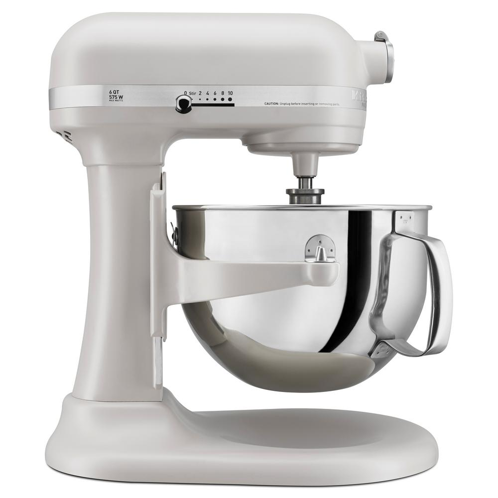 Professional 600 Series 6 Qt. 10-Speed Stand Mixer with Mixer Attachments -Milkshake White