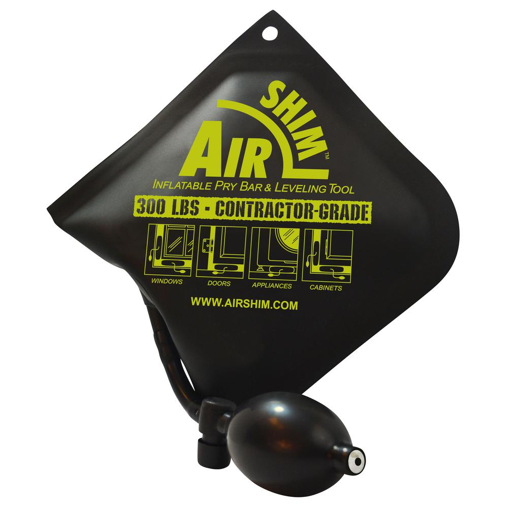 Contractor Grade AirShim Inflatable Pry Bar And Leveling Tool That Holds Up  To 300 Lbs.