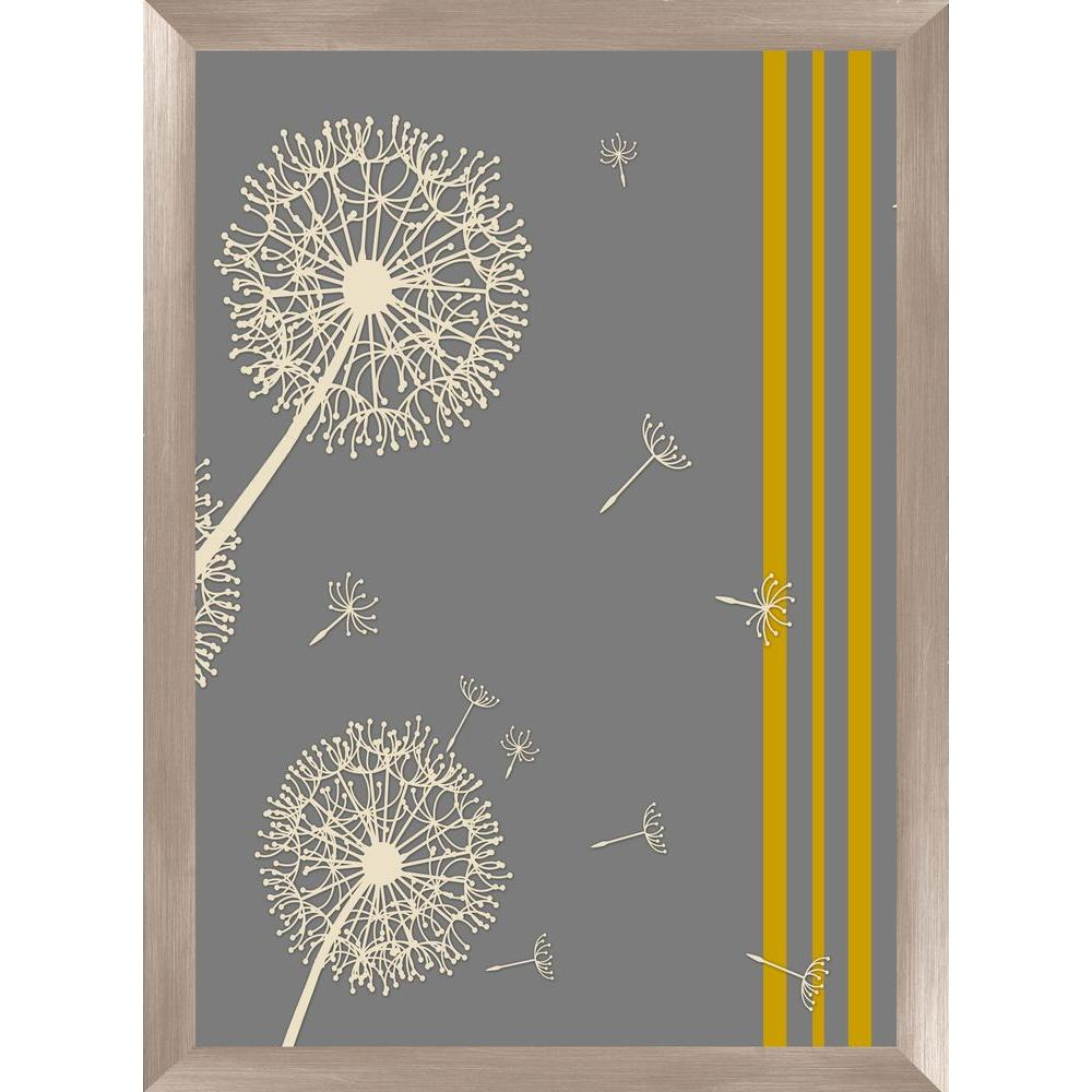 "PTM Images 30-1/2 in. x 22-1/2 in. ""Dandelion I B"" Framed Wall Art"
