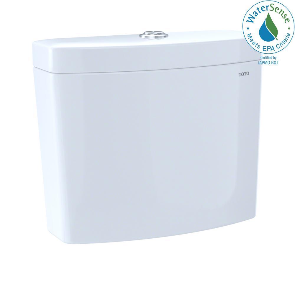 Aquia IV 0.8/1.0 GPF Dual Flush Toilet Tank Only in Cotton White