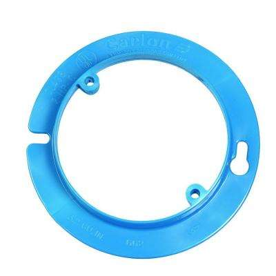 4 in. Blue Nonmetallic Round Plaster/Mud Ring for Electrical Ceiling Box