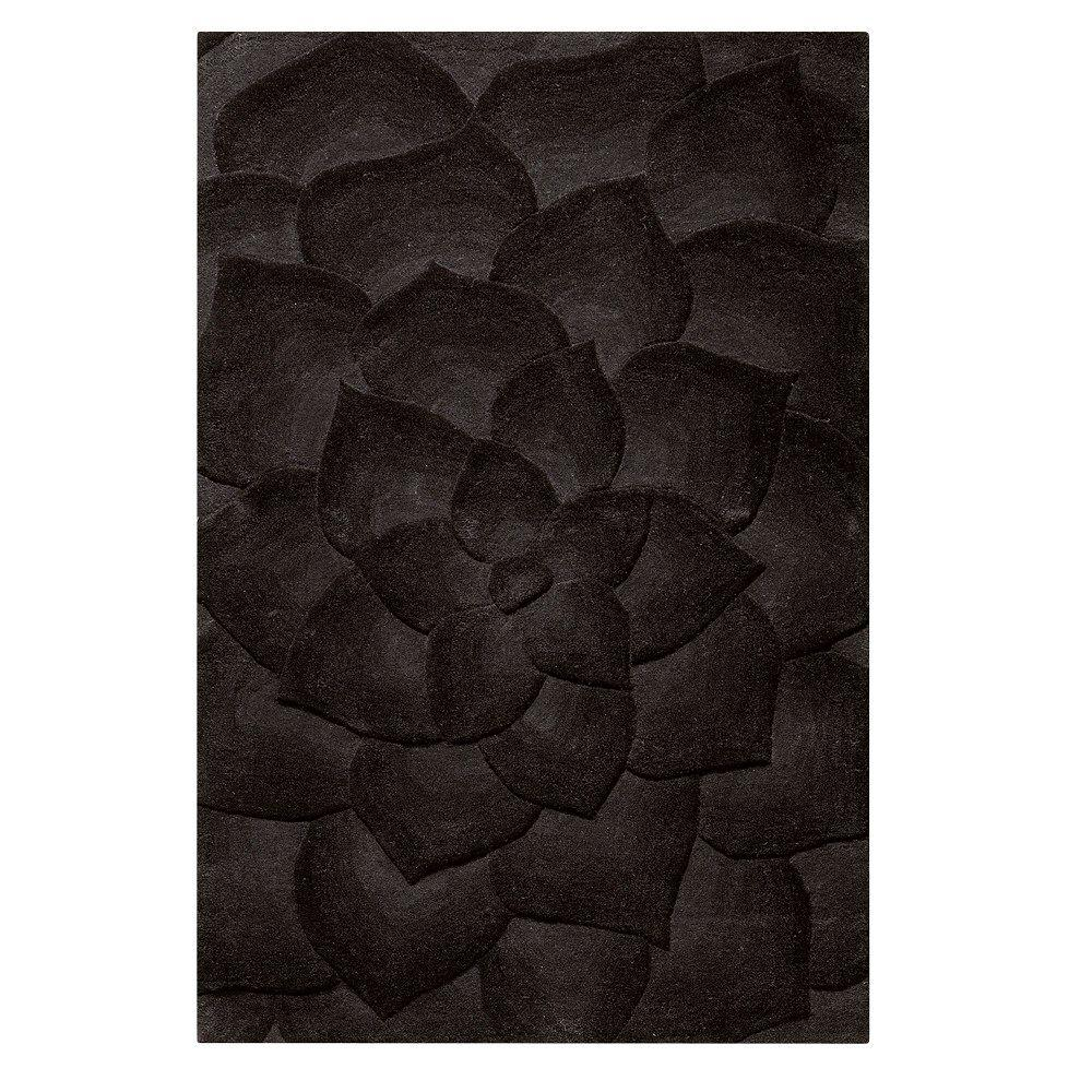 Home Decorators Collection Corolla Black 9 ft. 6 in. x 13 ft. 6 in. Area Rug