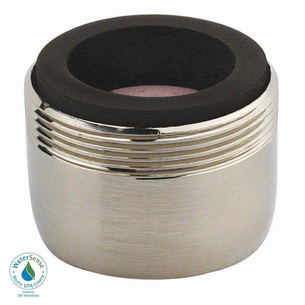 1.2 GPM Dual-Thread PCA Water-Saving Faucet Aerator in Brushed Nickel