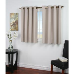 Click here to buy  Blackout Ultimate Blackout 56 inch W x 54 inch L Curtain Panel in Putty.