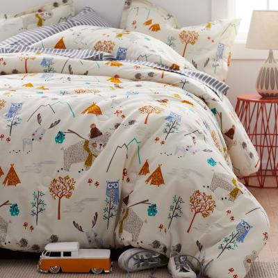 Forest Campers Organic Cotton Percale Comforter