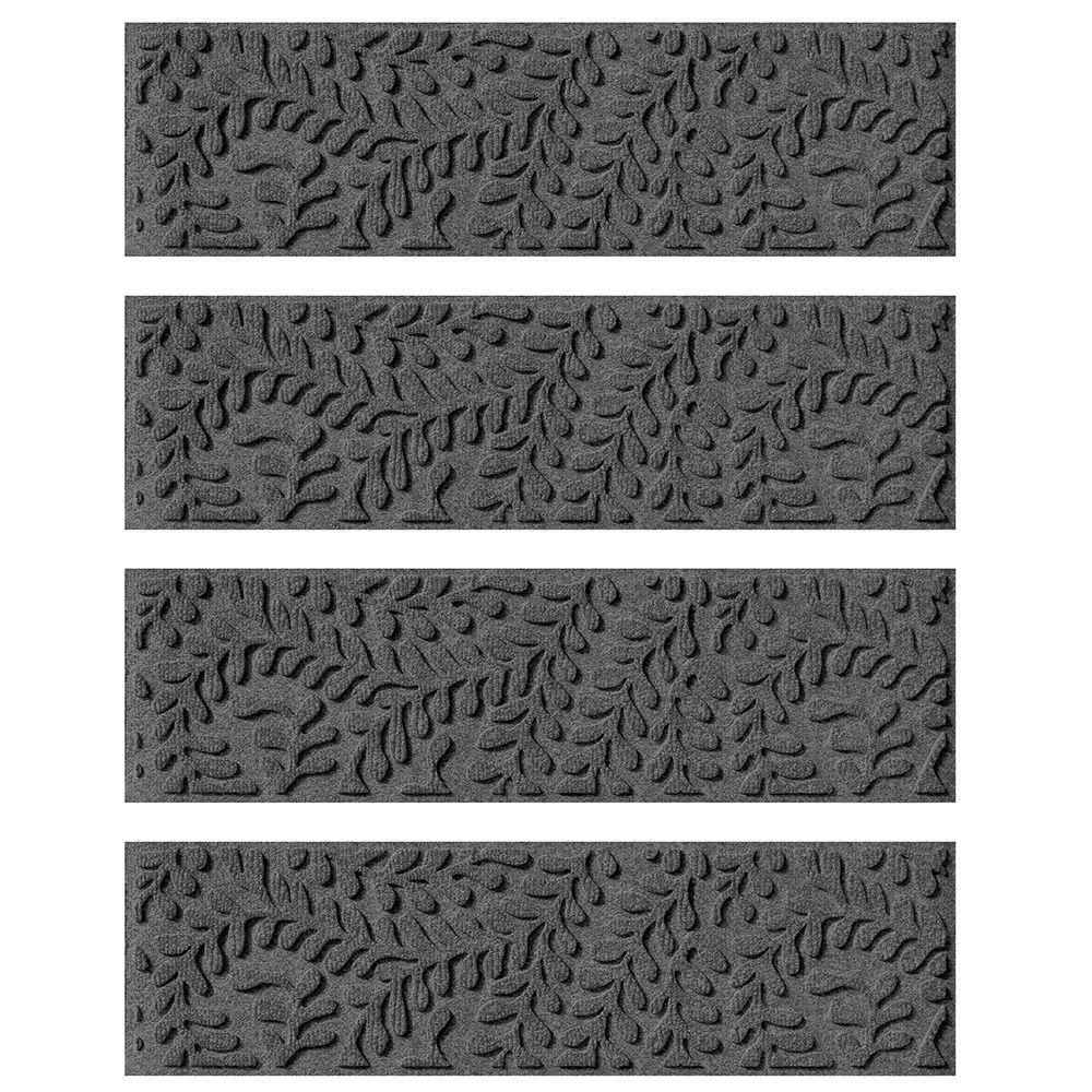 Amazing Aqua Shield Charcoal 8.5 In. X 30 In. Boxwood Stair Tread (Set Of  4) 20561541   The Home Depot