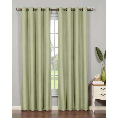 Emma Microfiber Room Darkening Grommet Curtain Panel, 54 in. W (1 Pair)