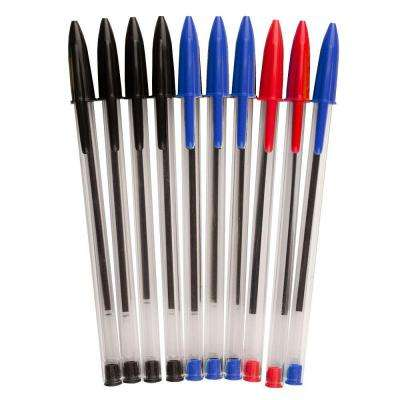 1.0 mm Assorted Color Ballpoint Pen (10-Pack)
