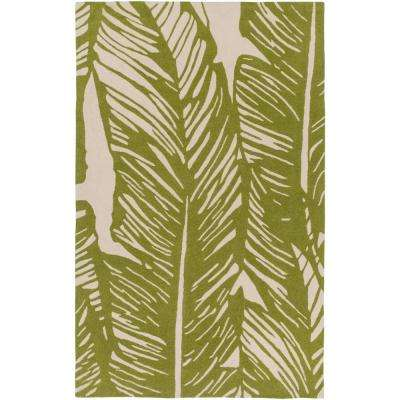 Babiana Olive 8 ft. x 10 ft. Indoor/Outdoor Area Rug