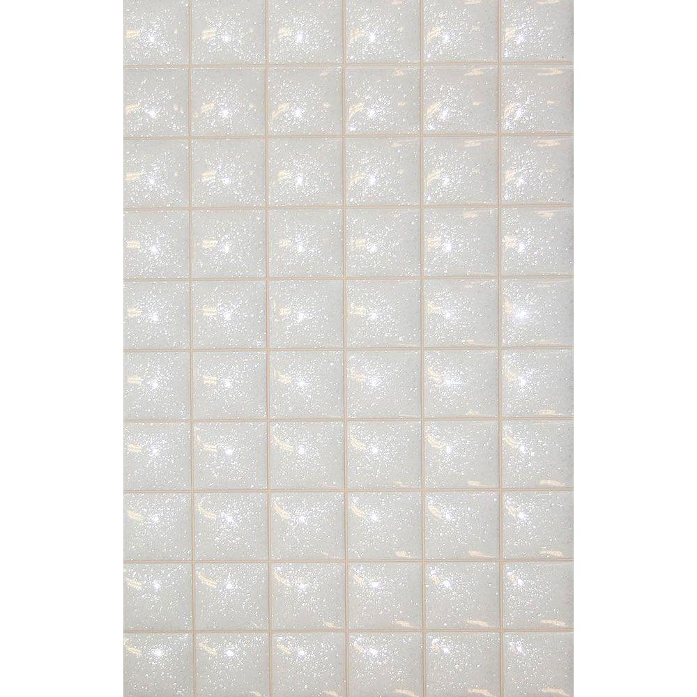 PORCELANOSA Mosaico Star 13 in. x 8 in. White Ceramic Tablet Mosaic Tile-DISCONTINUED
