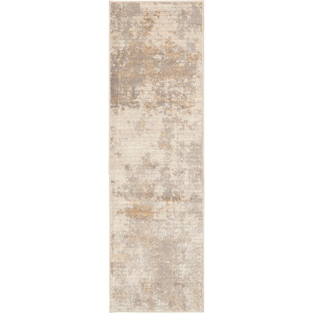 Medina Beige 2 ft. x 7 ft. Abstract Runner Rug