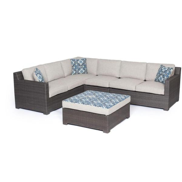 Agio Modena 5 Piece Wicker Patio