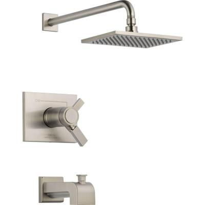 Vero TempAssure 17T Series 1-Handle Tub and Shower Faucet Trim Kit Only in Stainless (Valve Not Included)