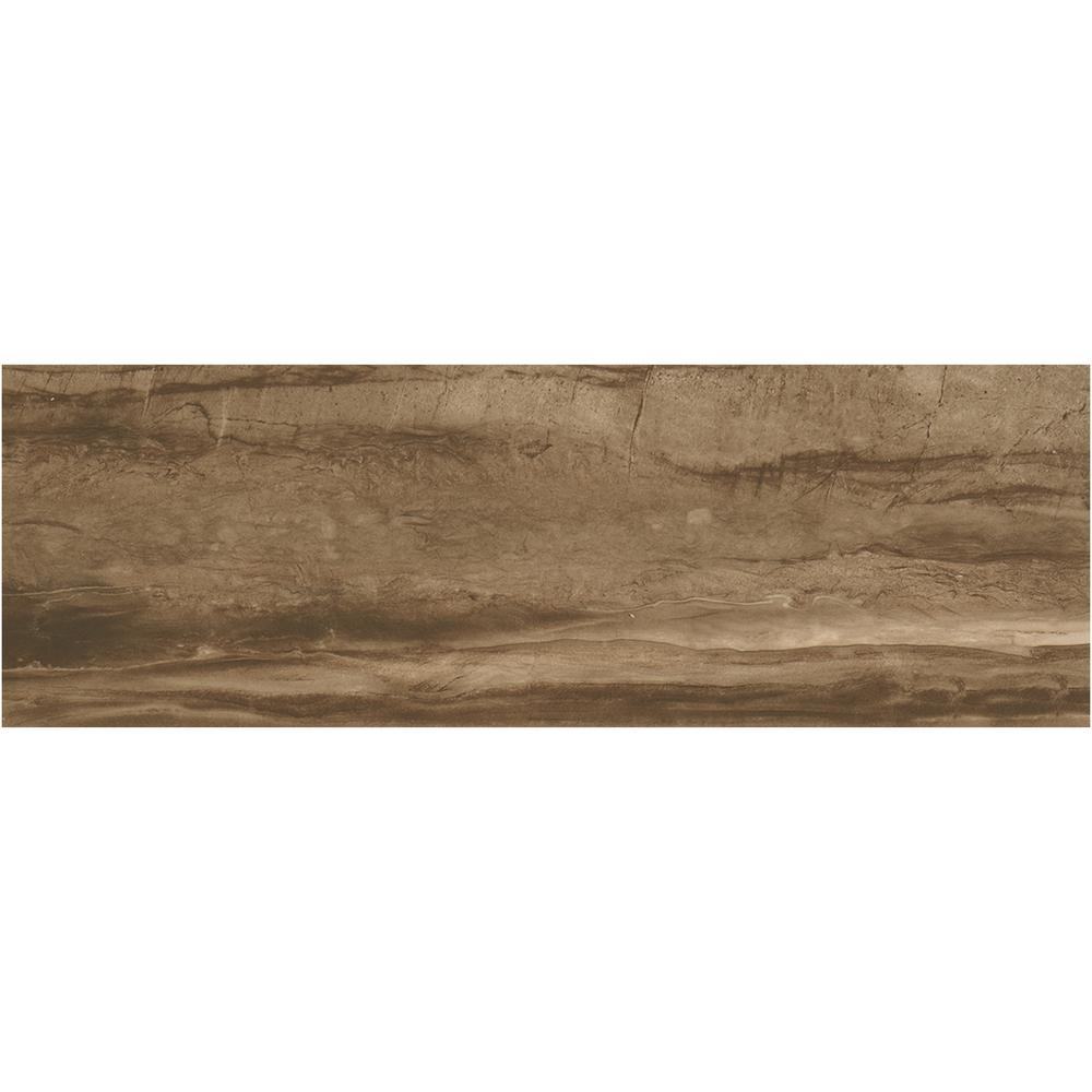 Sanford Deep Brown Polished 12 in. x 36 in. Color Body