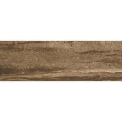 Sanford Deep Brown Polished 12 in. x 36 in. Color Body Porcelain Floor and Wall Tile (11.4 sq. ft. / case)