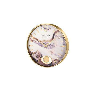 16 in. H x 16 in. W Polished Gold Tone Round Wall Clock