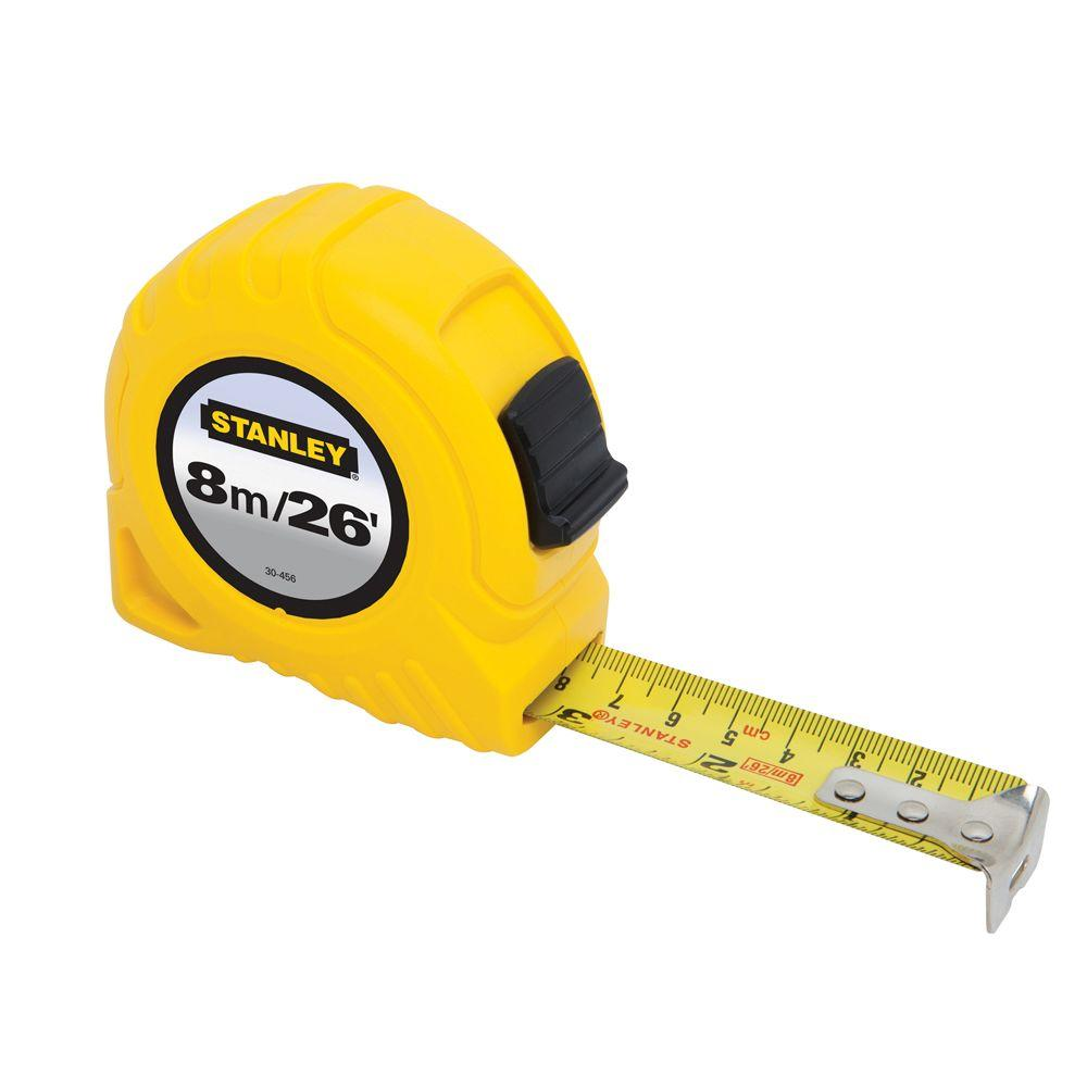 Stanley 26 ft Tape Measure Measuring Tool Metric SAE Standard Measure Hand Tool