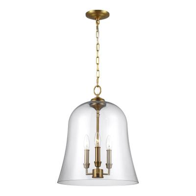 Lawler 3-Light Burnished Brass Pendant