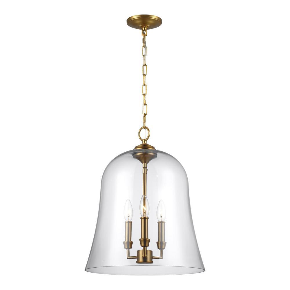 Lawler 3-Light Burnished Brass Pendant
