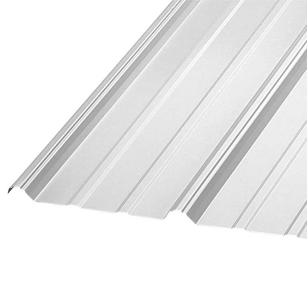 Gibraltar Building Products 12 Ft Pbr Galvalume 26 Gauge Roof Panel Pbr12g 26 The Home Depot