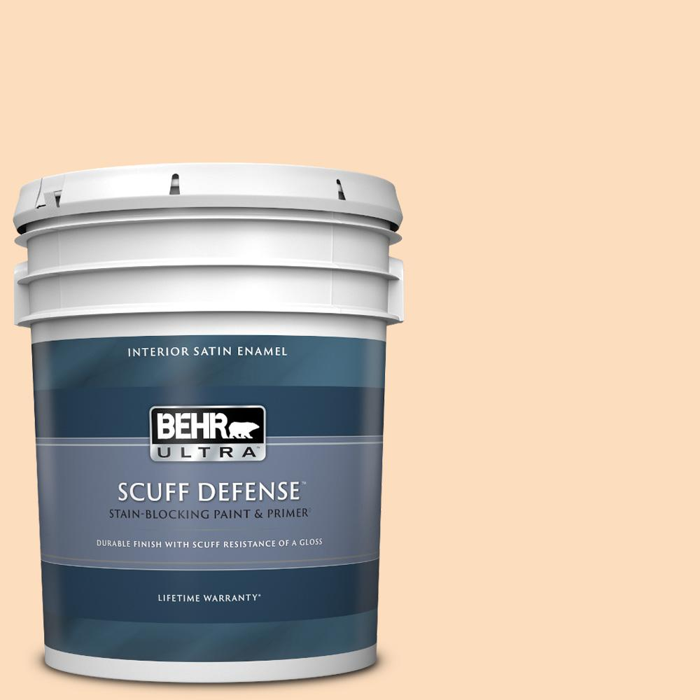 Behr Ultra 5 Gal M230 3 Mystic Opal Extra Durable Satin Enamel Interior Paint And Primer In One 775005 The Home Depot