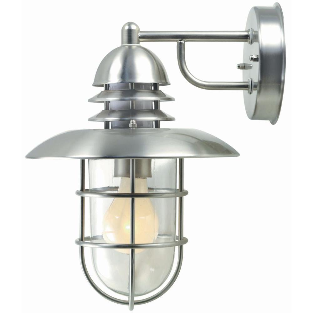 Illumine 1-Light Outdoor Stainless Steel Wall Lamp by Illumine