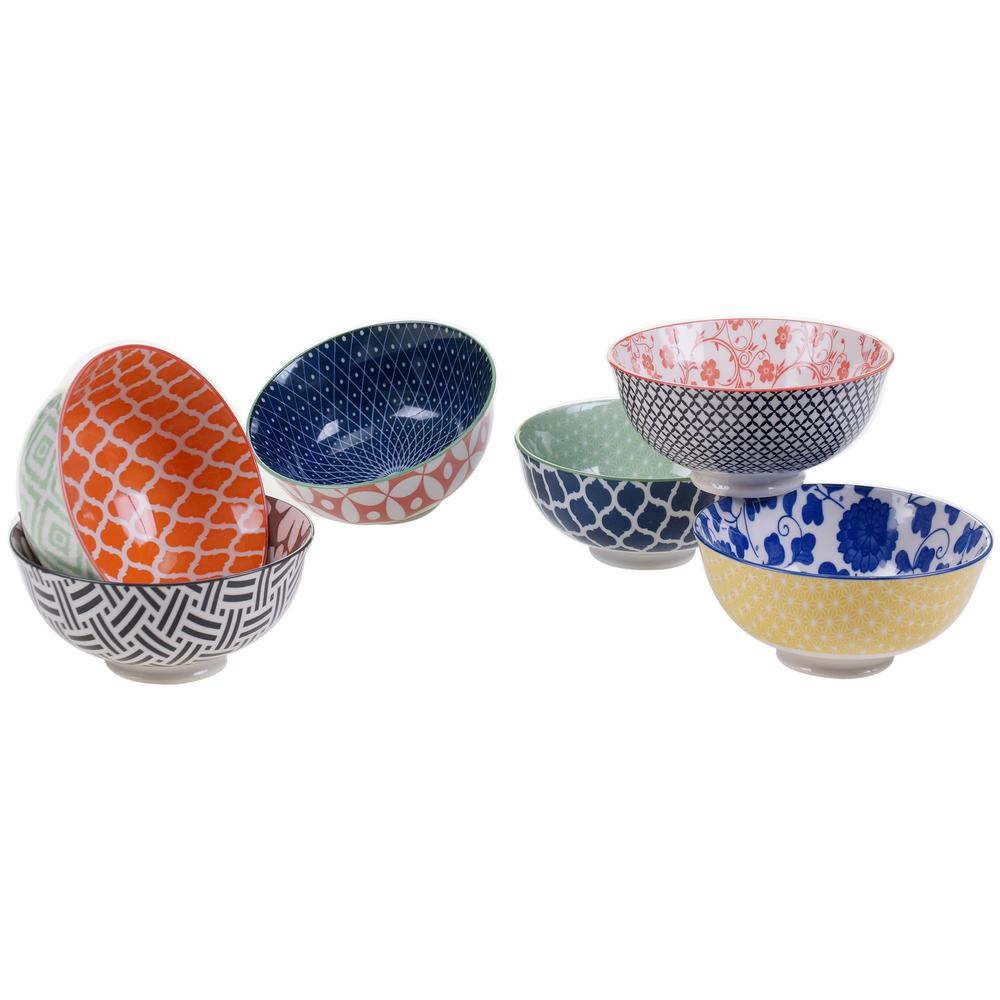 Soho Multi-color Bowls (Set of 6)