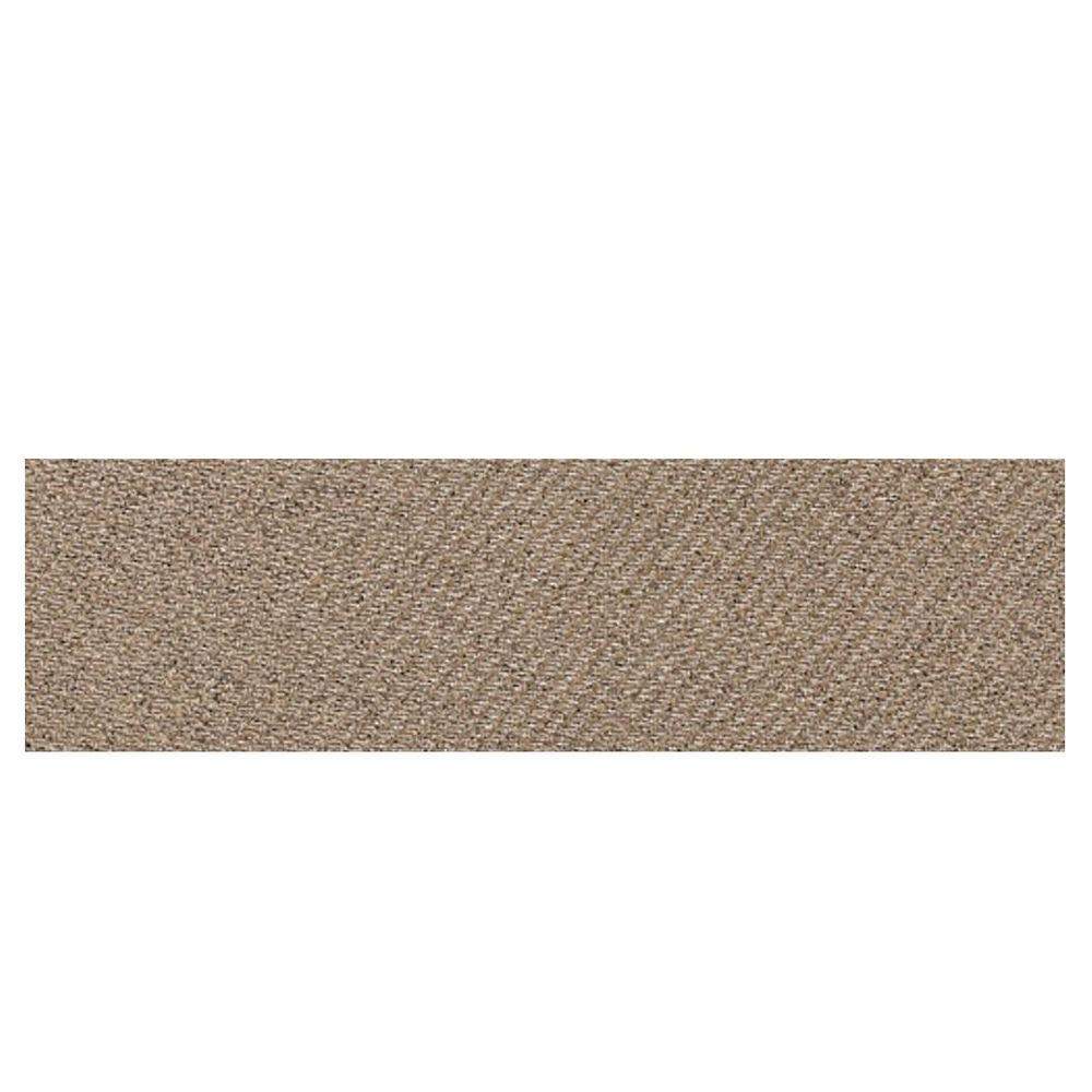 Daltile Identity Imperial Gold Fabric 4 in. x 12 in. Polished Porcelain Bullnose Floor and Wall Tile