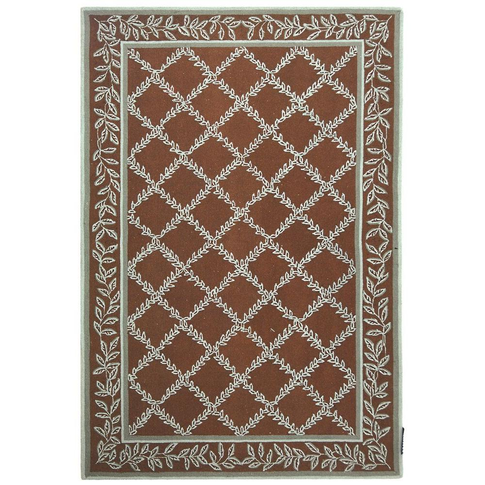 Chelsea Brown/Blue 6 ft. x 9 ft. Area Rug