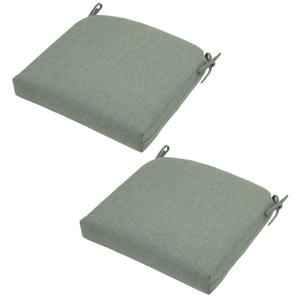 Null Spa Solid Deluxe Outdoor Seat Cushion (2 Pack)