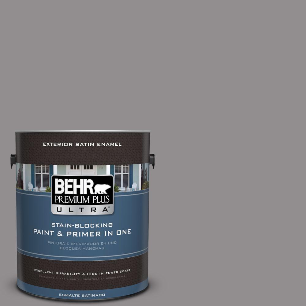 BEHR Premium Plus Ultra 1-gal. #PPU16-14 Plum Smoke Satin Enamel Exterior Paint