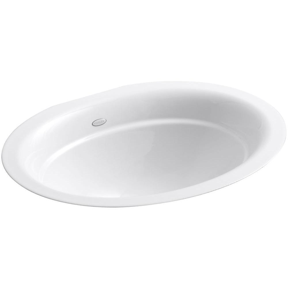 KOHLER Serif Undermount Cast Iron Bathroom Sink In White