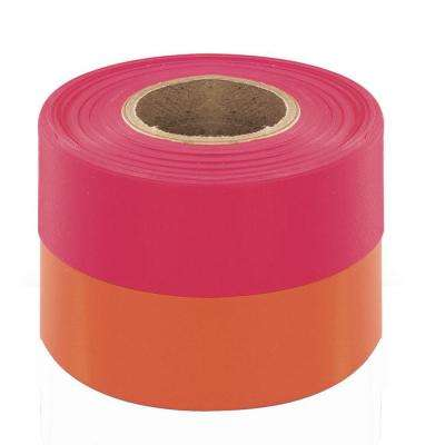 1-3/16 in. x 150 ft. Fluorescent Pink Flagging Tape (12-pack)
