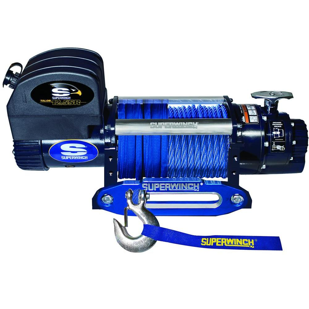 Talon 12.5SR 12-Volt DC Off-Road Winch with Hawse Fairlead and Synthetic