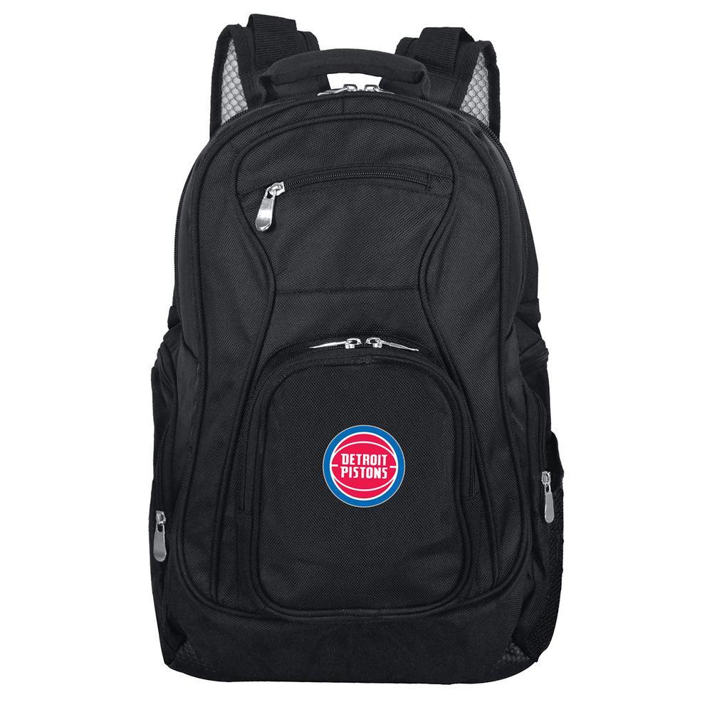 NBA Detroit Pistons Black Backpack Laptop