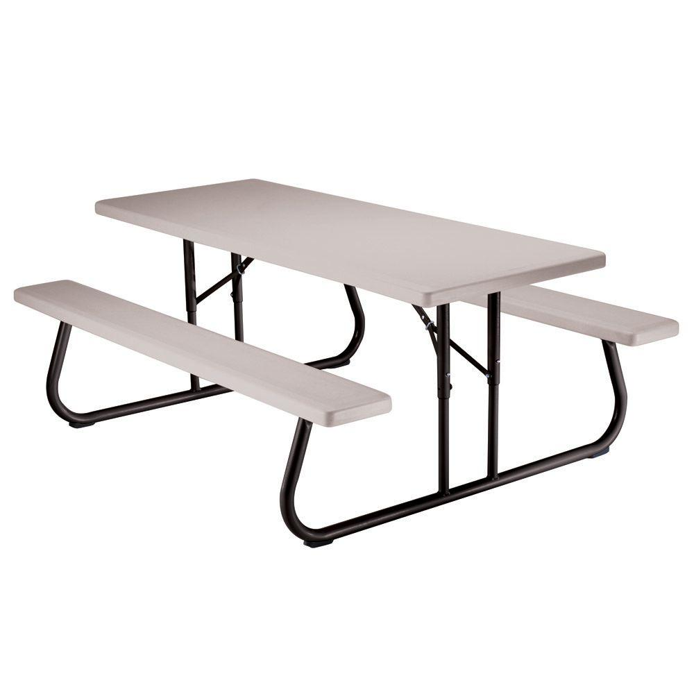 Steel Picnic Tables Patio Tables The Home Depot - Commercial picnic table frames