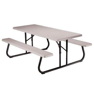 6 ft. Putty Folding Picnic Table