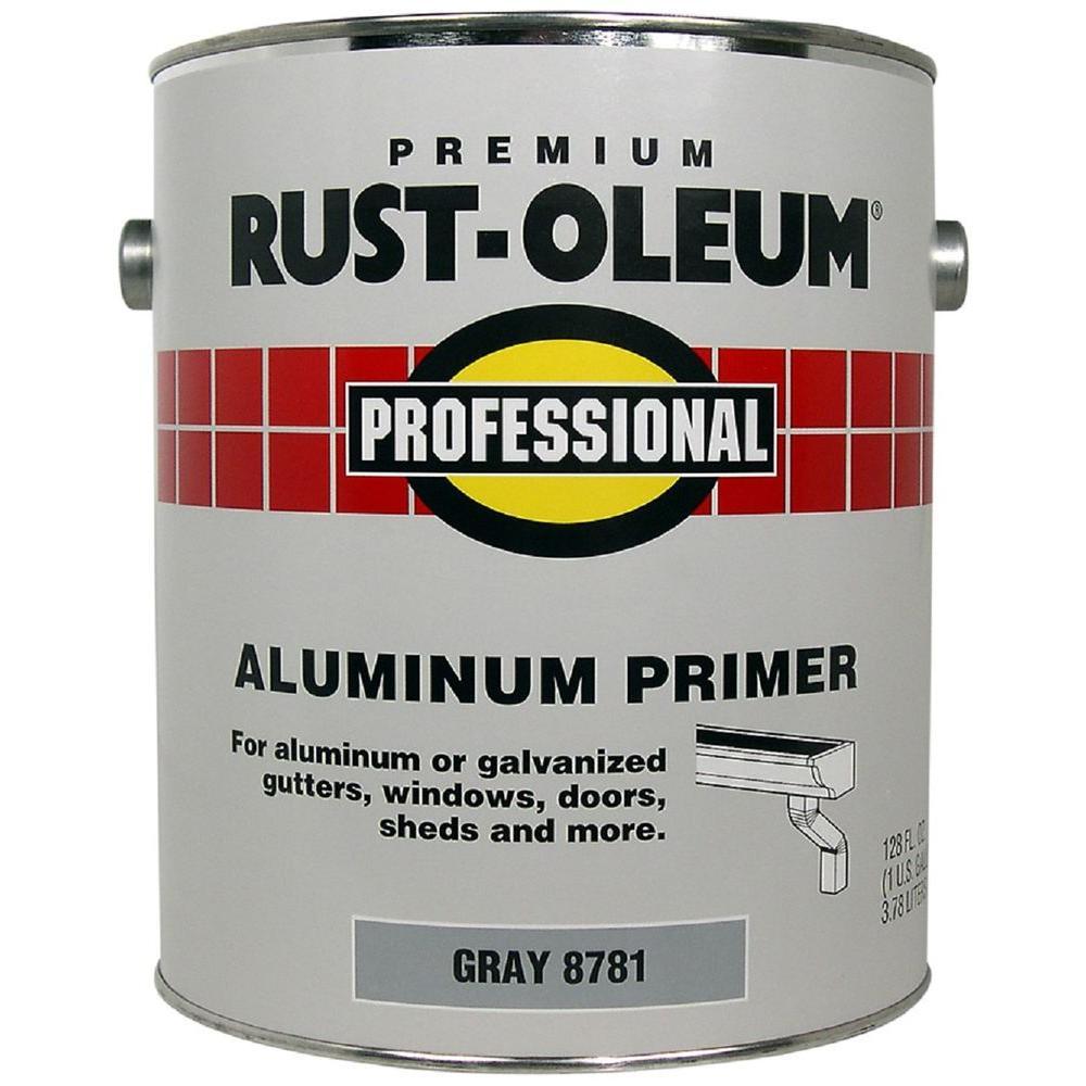 Rust Oleum Professional 1 Gal Flat Gray Water Based Interior Exterior Aluminum