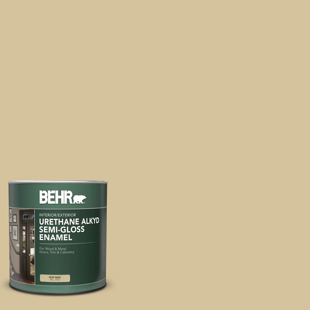 Behr 1 Qt Home Decorators Collection Hdc Nt 02 White Oak Semi Gloss Enamel Urethane Alkyd Interior Exterior Paint 393004 The Home Depot
