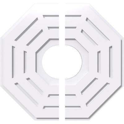 24 in. OD x 7 in. ID x 1 in. P Westin Architectural Grade PVC Contemporary Ceiling Medallion (2-Piece)