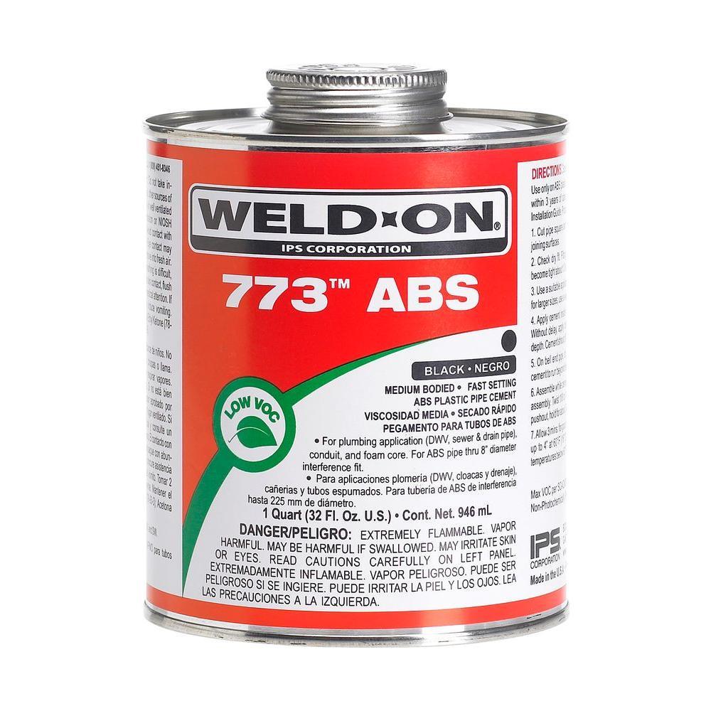 32 oz. ABS 773 Low VOC Cement - Black