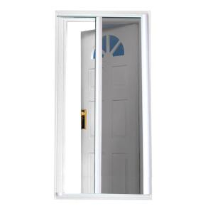 White Screen Doors odl 36 in. x 80 in. brisa sandstone standard height retractable