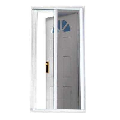 40 in. x 97.5 in. White Retractable Screen Door