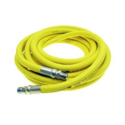 3/8 in. x 50 ft. 500 psi Coupled Male x Male NPT Heavy Duty Nonconductive Air Hose in Yellow