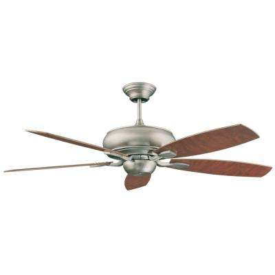 Roosevelt Series 52 in. Indoor Satin Nickel Ceiling Fan