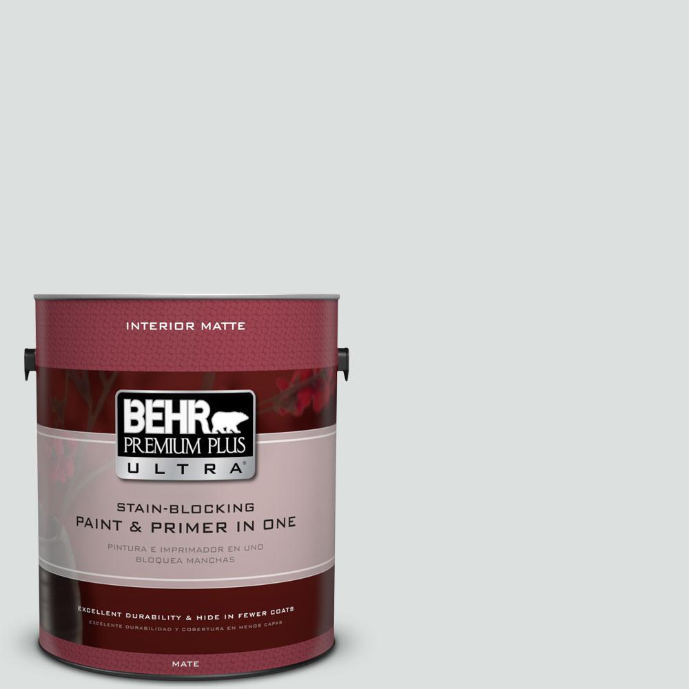 BEHR Premium Plus Ultra 1 gal. #BL-W11 Tinsmith Matte Interior Paint