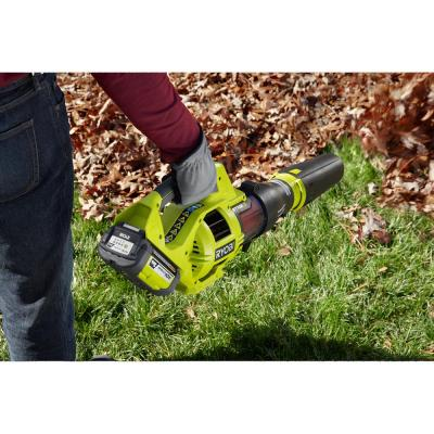 110 MPH 480 CFM Variable-Speed 40-Volt Lithium-Ion Cordless Jet Fan Leaf Blower - 3.0 Ah Battery and Charger Included