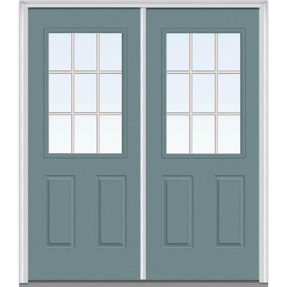 64 in. x 80 in. Grilles Between Glass Left-Hand 1/2 & Riverway - Front Doors - Exterior Doors - The Home Depot pezcame.com