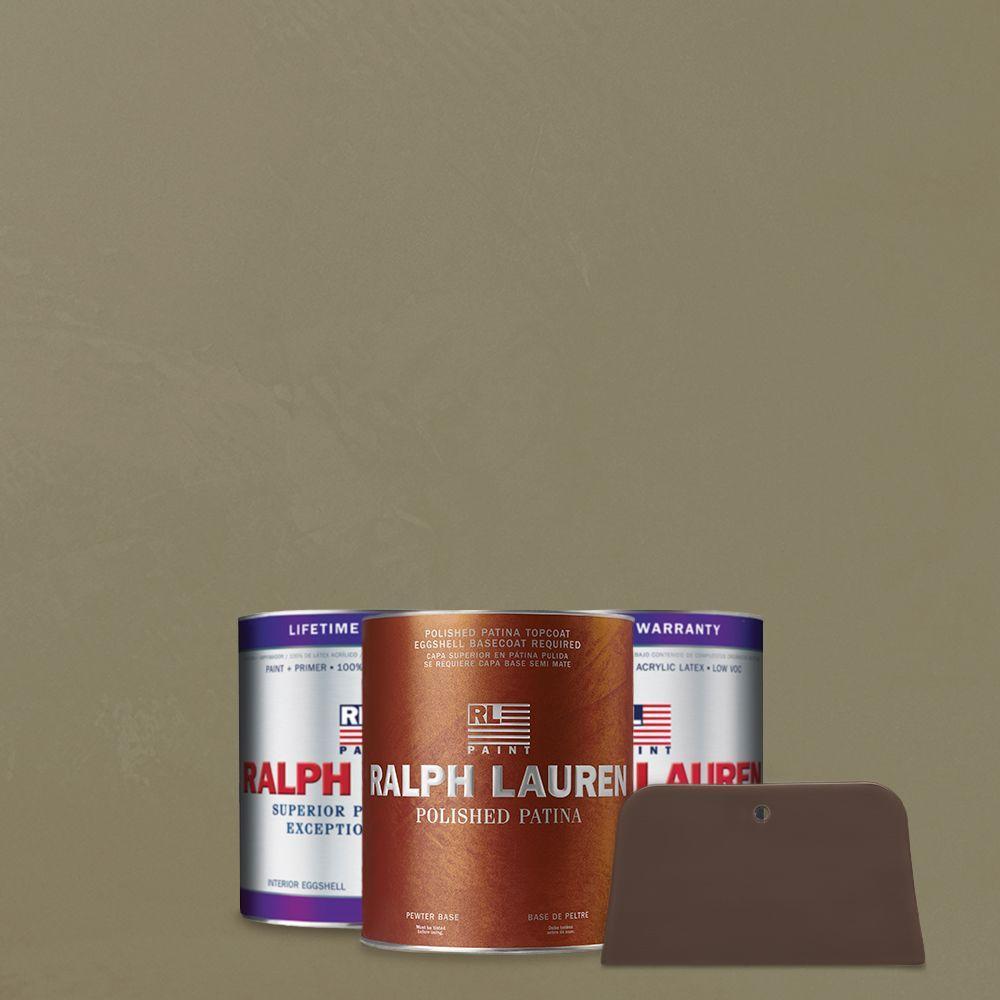 Ralph Lauren 1 qt. New Verdigris Pewter Polished Patina Interior Specialty Paint Kit