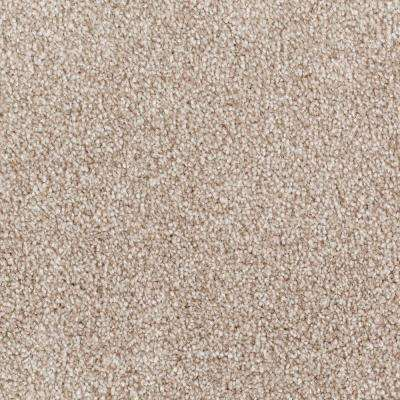 Carpet Sample - Tides Edge - Color Walnut Textured 8 in. x 8 in.